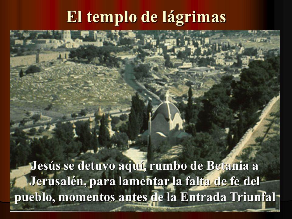 El sitio de Jerusalén antigua Ahora, mirando un poco al lado derecho…