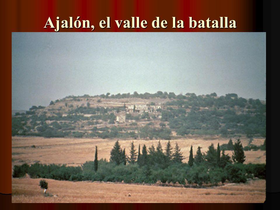 Área de batalla cuando se paró el sol En Josué 10:12-14