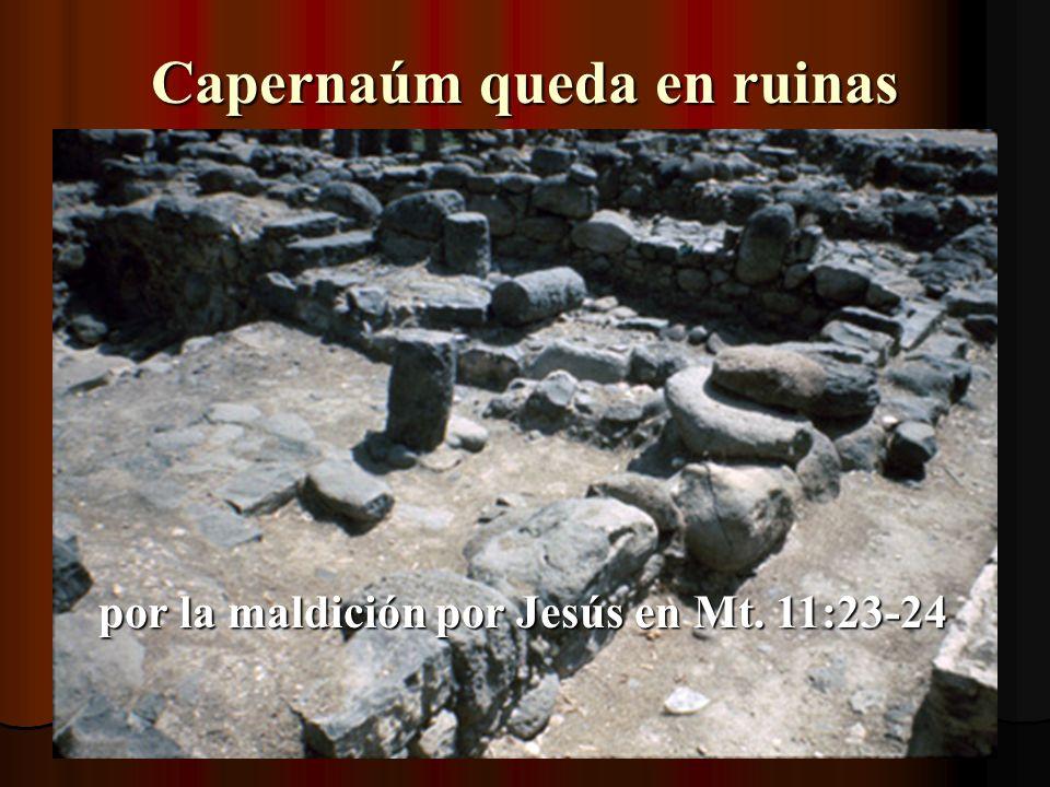 La entrada a Capernaúm Donde Pedro encontró el pez con una moneda en la boca