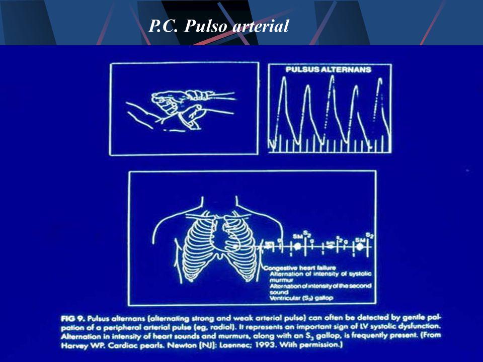 P.C. Pulso arterial