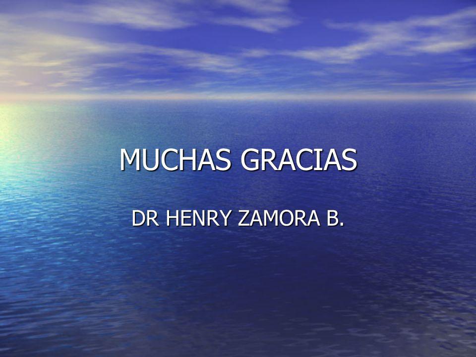 MUCHAS GRACIAS DR HENRY ZAMORA B.