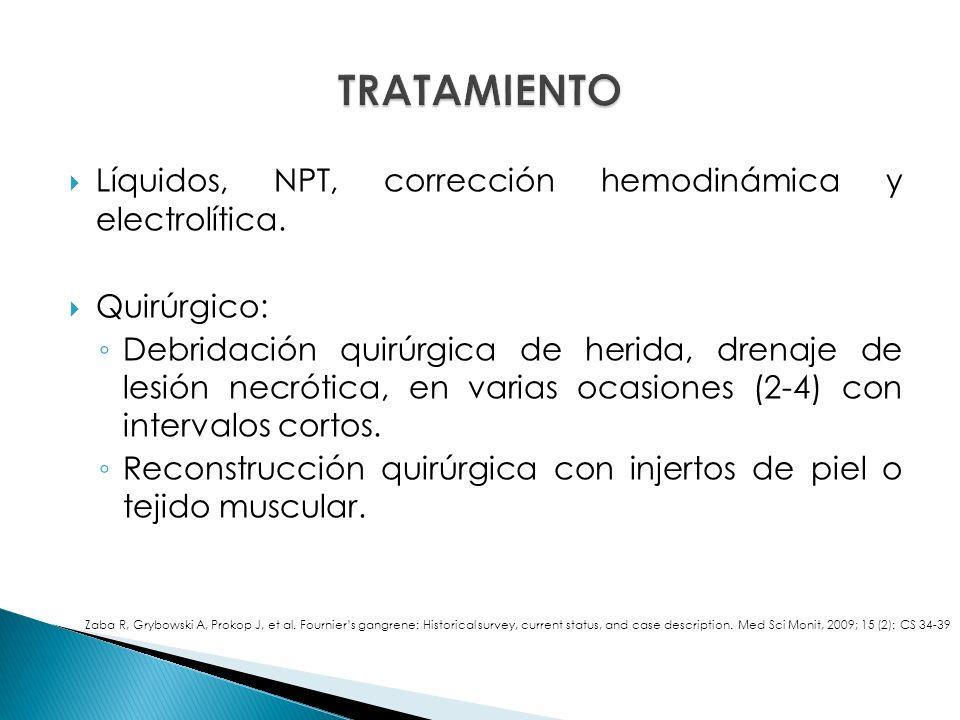 Líquidos, NPT, corrección hemodinámica y electrolítica.