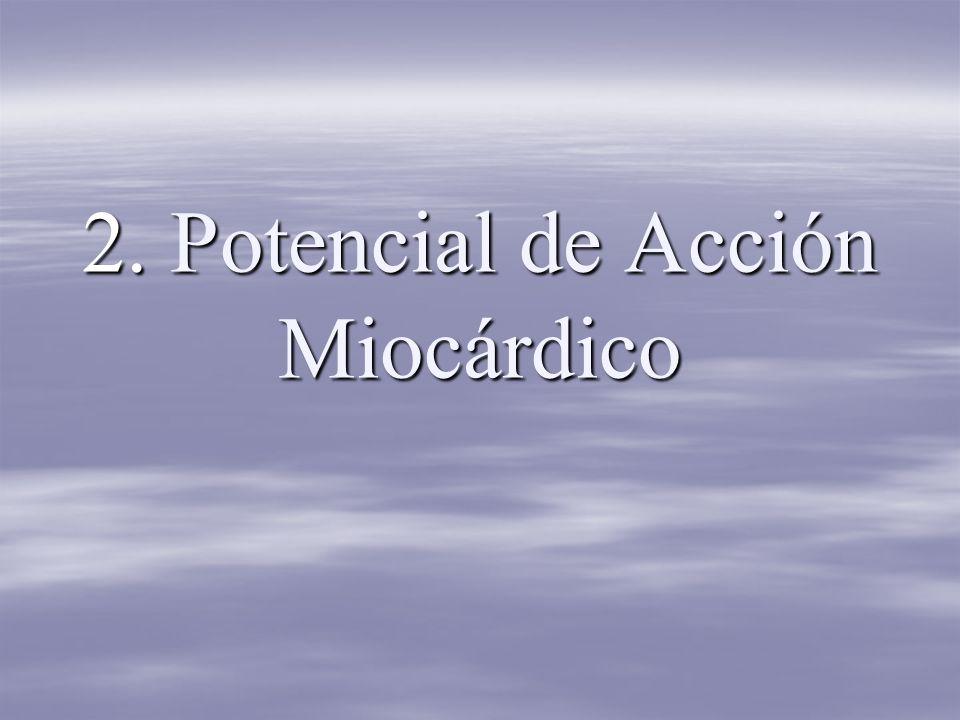 2. Potencial de Acción Miocárdico