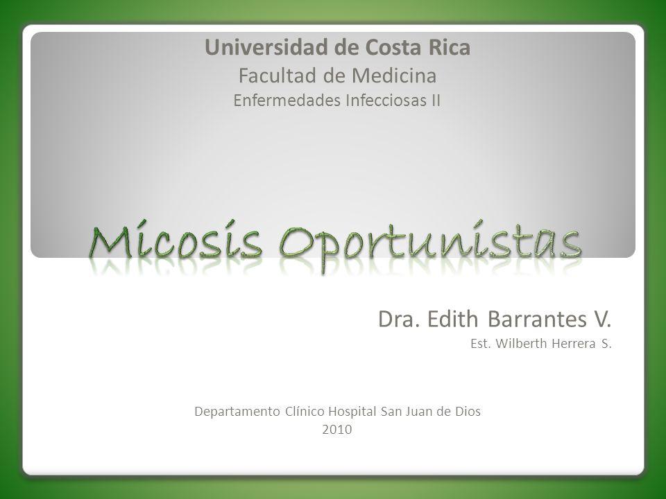 Dra. Edith Barrantes V. Est. Wilberth Herrera S. Departamento Clínico Hospital San Juan de Dios 2010 Universidad de Costa Rica Facultad de Medicina En