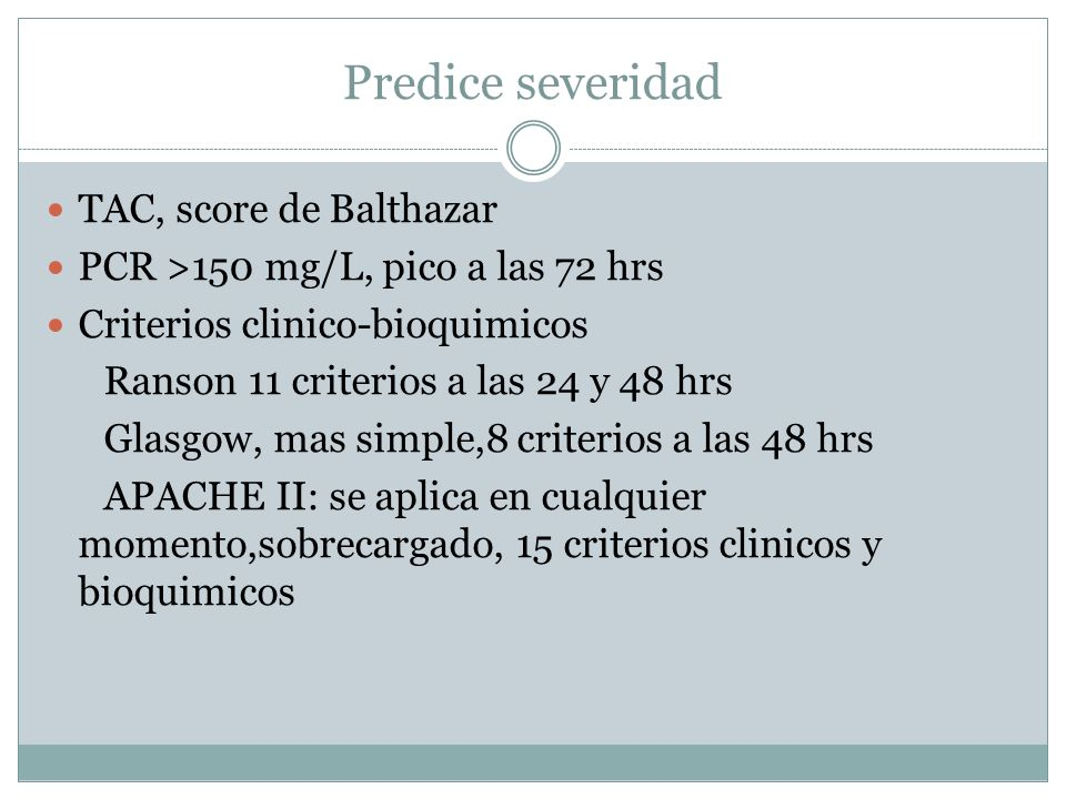 APACHE Acute Physiology And Chronic Health Evaluation II Edad, hematocrito, leucocitos, temperatura, MAP=(2x diastolic)+sistolica)/3, FC,FR,Sodio serico,Potasio serico,Aa gradiente si FIO2 >o = 0.5 (Oxigenacion), pH arterial 7.33-7.49, creat 0.6-1.4 y no IRAguda,hx de insuficiencia organica severa(corazon,higado, riñon, otro)