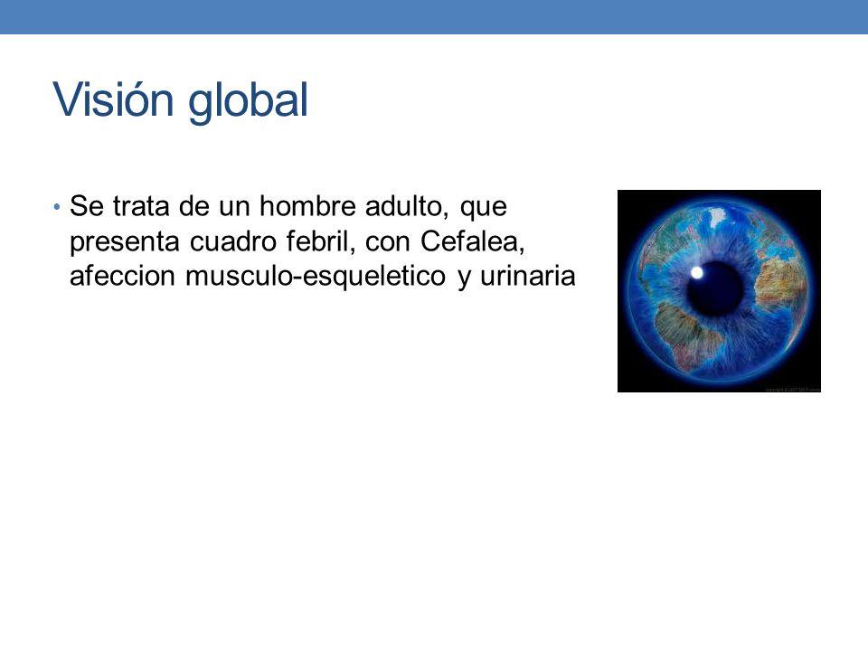 Visión global Se trata de un hombre adulto, que presenta cuadro febril, con Cefalea, afeccion musculo-esqueletico y urinaria