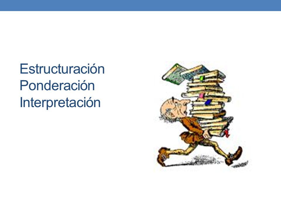 Estructuración Ponderación Interpretación