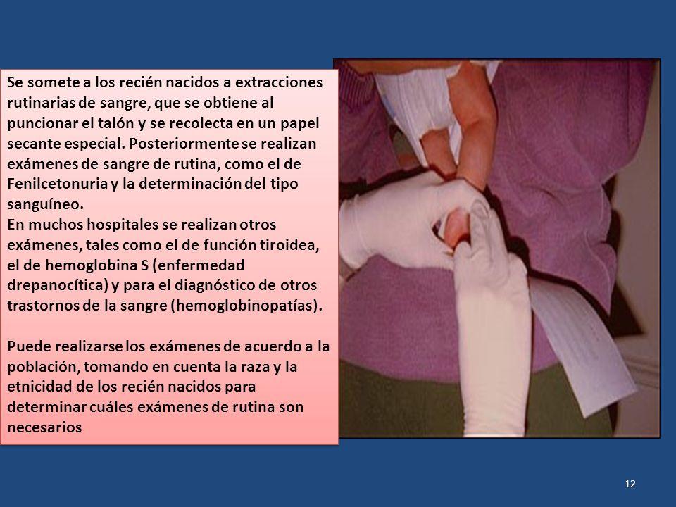 Se somete a los recién nacidos a extracciones rutinarias de sangre, que se obtiene al puncionar el talón y se recolecta en un papel secante especial.