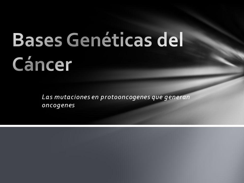 Las mutaciones en protooncogenes que generan oncogenes