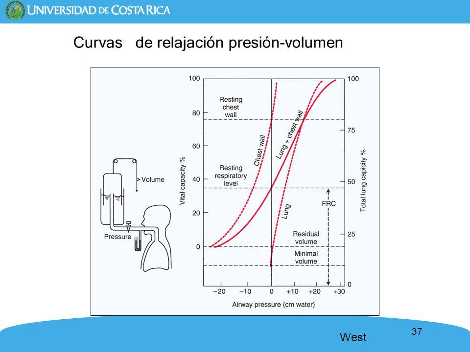 37 Curvas de relajación presión-volumen West