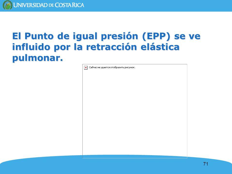 71 El Punto de igual presión (EPP) se ve influido por la retracción elástica pulmonar.