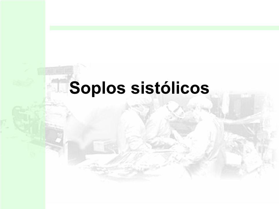 HEMODINÁMICA Soplo mesosistólico Soplo Holosistólico Soplo Diastólico Precoz Soplo mesodiastólico Soplo presistólico Soplo continuo CLINICA Inocentes
