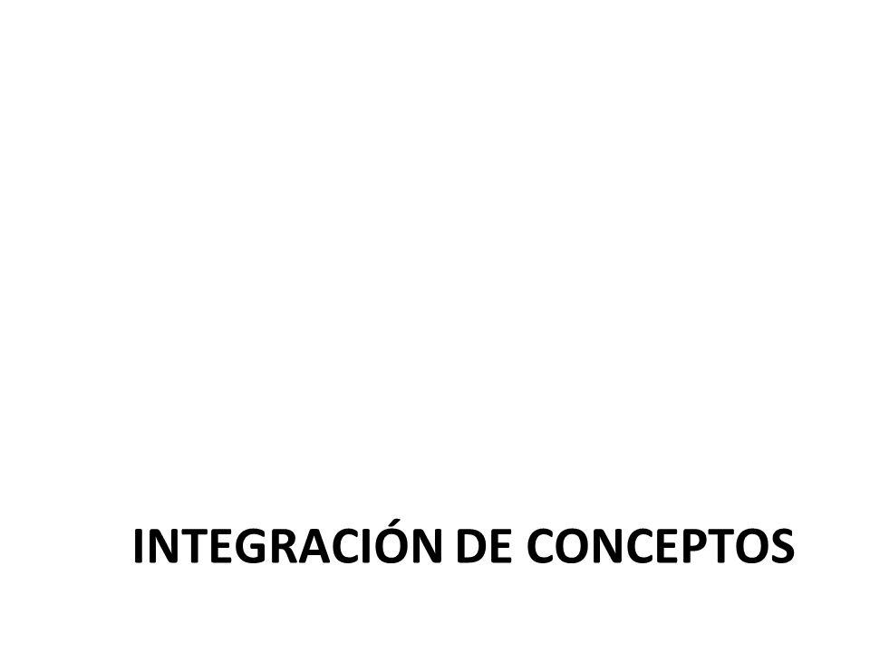 INTEGRACIÓN DE CONCEPTOS