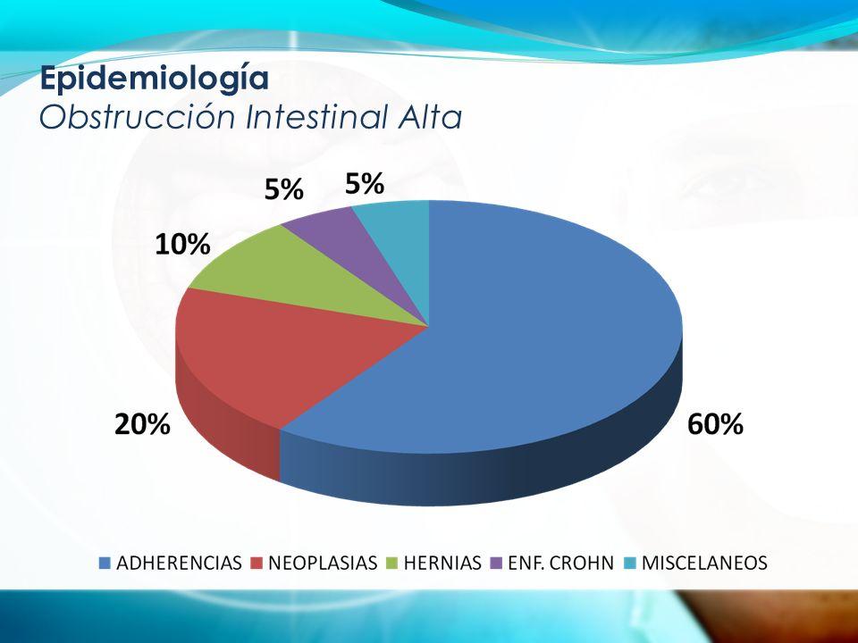 Epidemiología Obstrucción Intestinal Alta