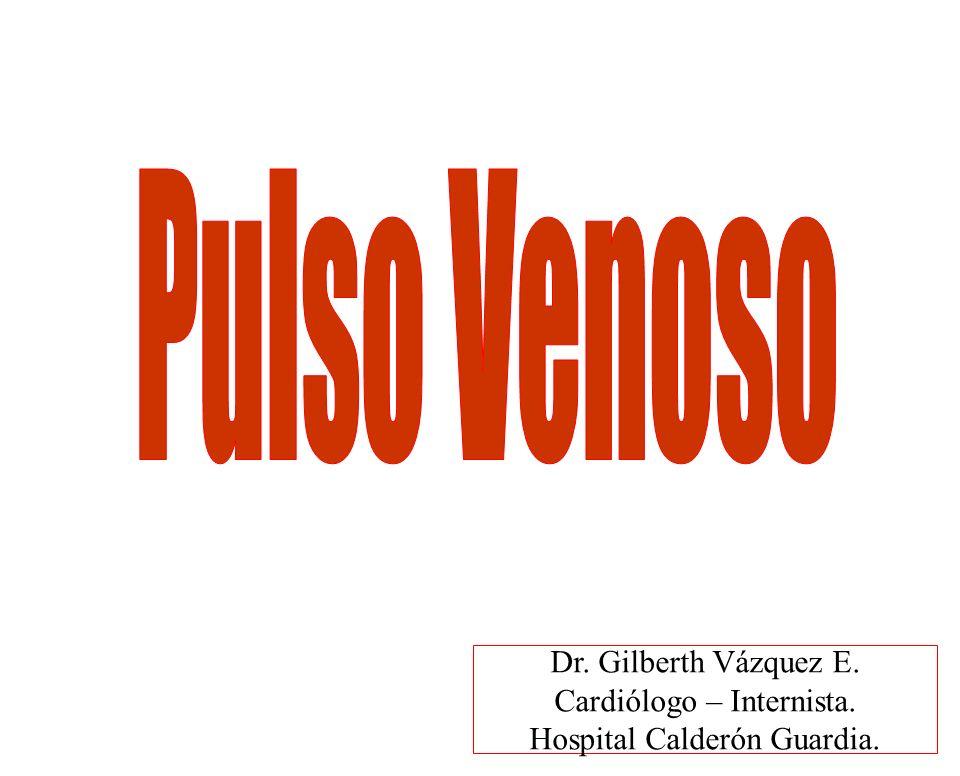 PULSO VENOSO EFECTOS RESPIRACION Aumento retorno venoso fuerza contracción A.D.