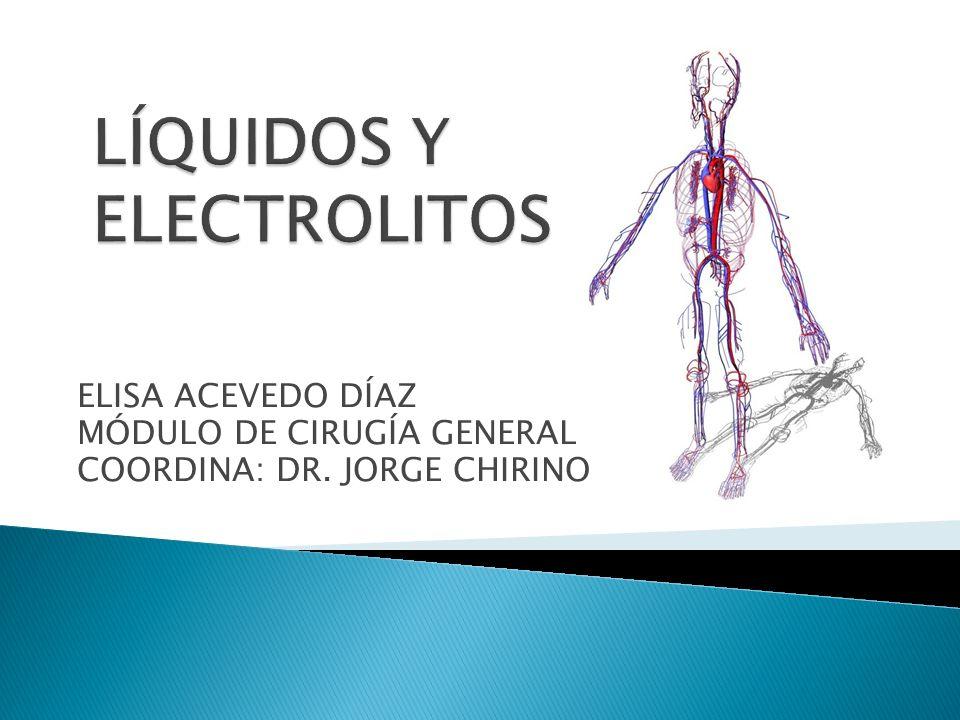 ELISA ACEVEDO DÍAZ MÓDULO DE CIRUGÍA GENERAL COORDINA: DR. JORGE CHIRINO