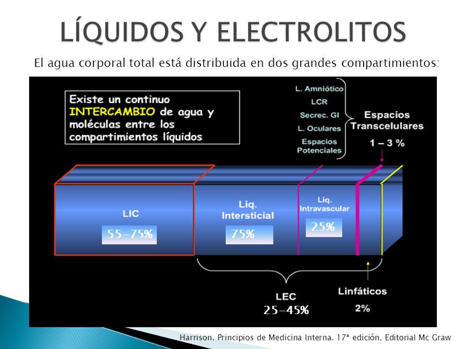Necesario para el metabolismo energético celular Causas: fuga transcelular, pérdidas renales y/o GI, ingesta inadecuada Harrison.