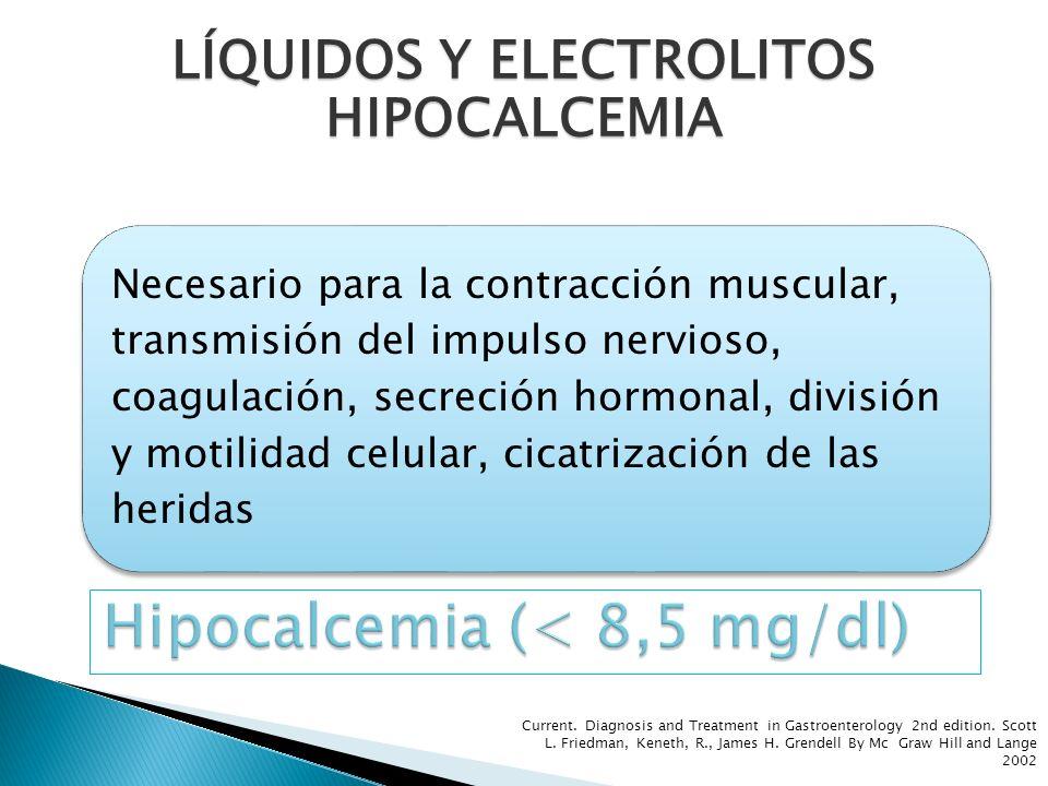 Necesario para la contracción muscular, transmisión del impulso nervioso, coagulación, secreción hormonal, división y motilidad celular, cicatrización