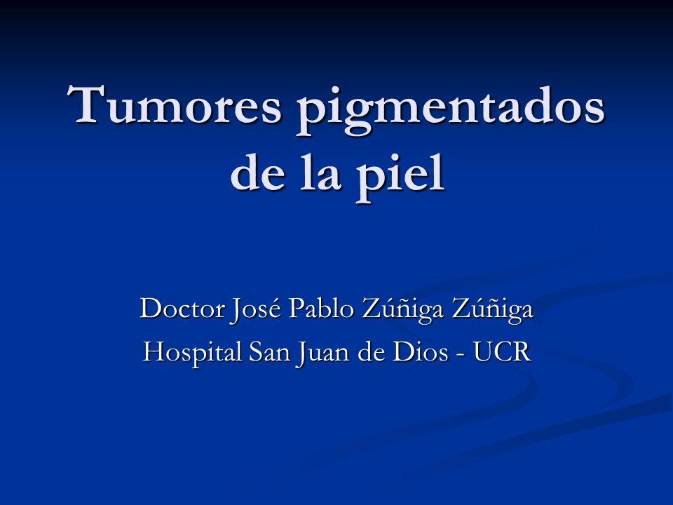 Tumores pigmentados de la piel Doctor José Pablo Zúñiga Zúñiga Hospital San Juan de Dios - UCR