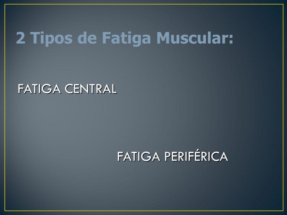 2 Tipos de Fatiga Muscular: FATIGA CENTRAL FATIGA PERIFÉRICA