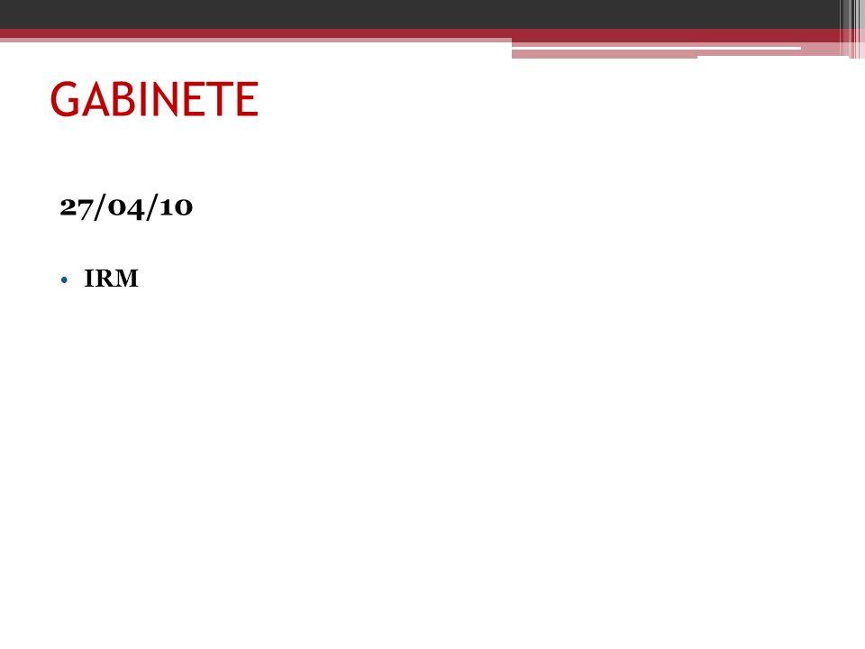 GABINETE 27/04/10 IRM