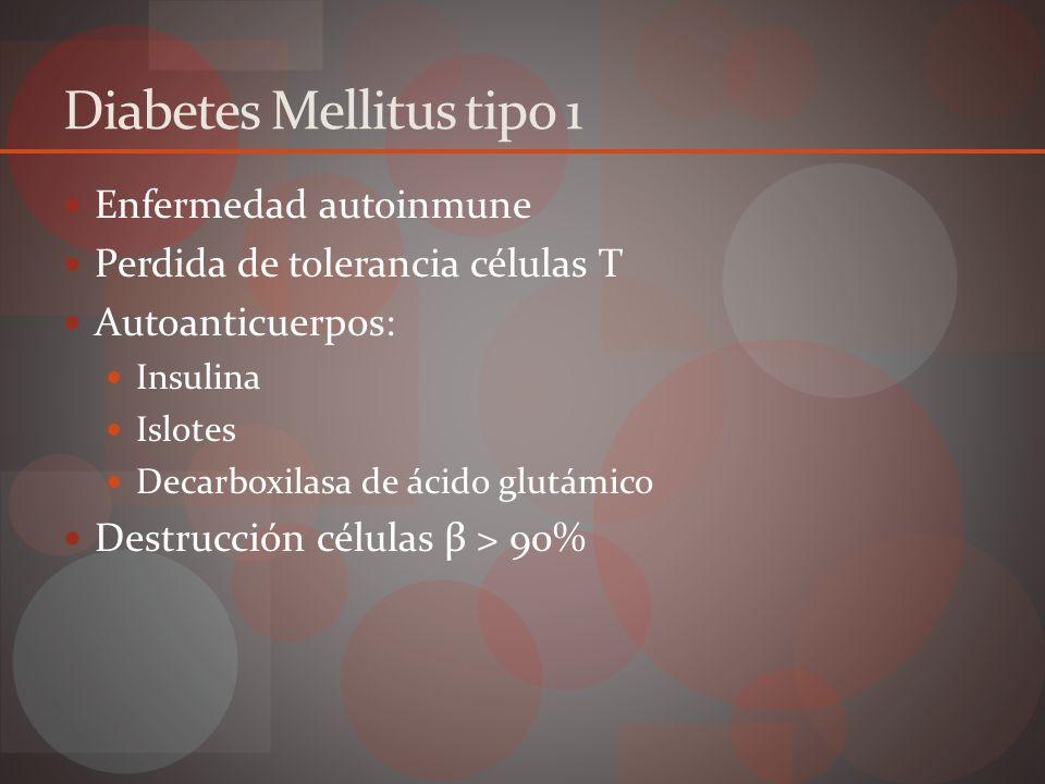 Predisponentes Genéticos: HLA-DR3 y HLA-DR4 Ambientales: Virus: paramixovirus, rubeola, coxsackie B, CMV Vacunas Exposición antígenos