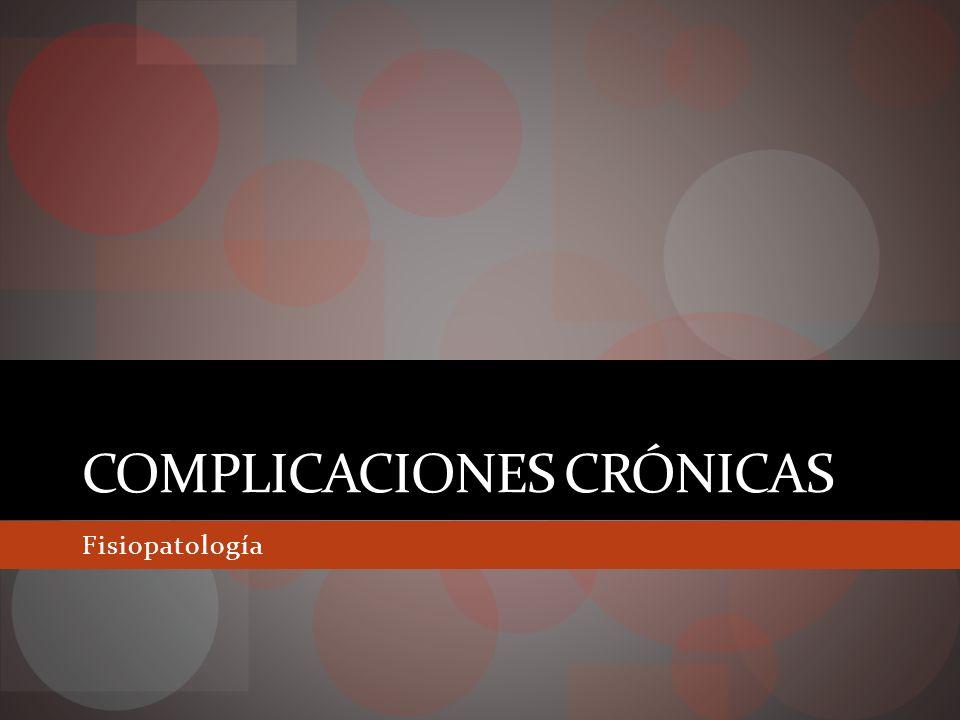 Complicaciones crónicas Retinopatía diabética Nefropatía diabética Neuropatía diabética