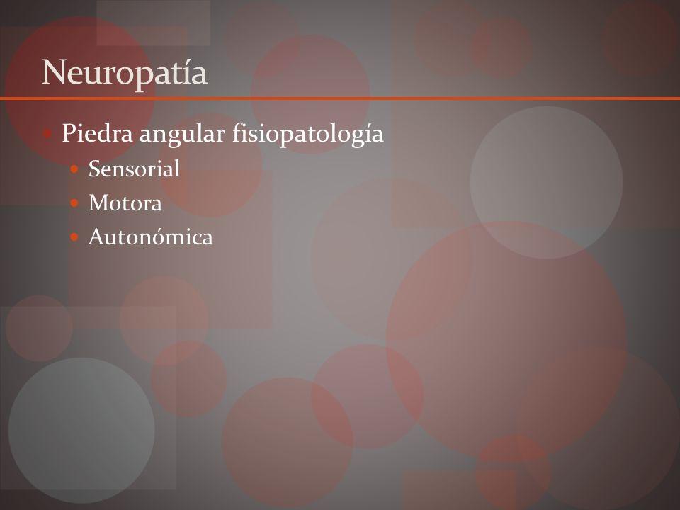 Neuropatía sensorial Pérdida mecanismo protección Trauma desapercibido Ulceración Entrada bacterias Celulitis / absceso