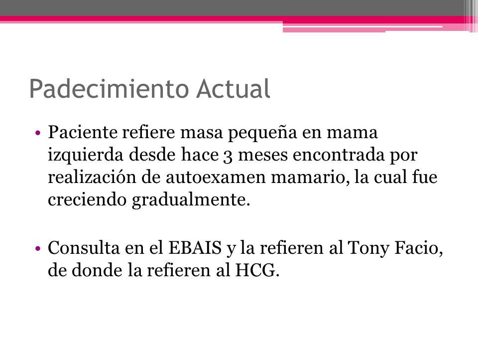 Referencia Tony Facio Nódulo indoloro de 3x4cm CSI Mizq Consistencia duroelástica, no adherida a planos profundos.
