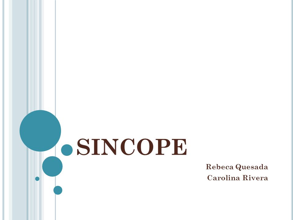 SINCOPE Rebeca Quesada Carolina Rivera