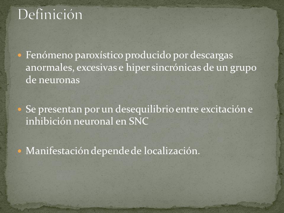 Tonico-clonicas: -algunos pacientes presentan pródromo.