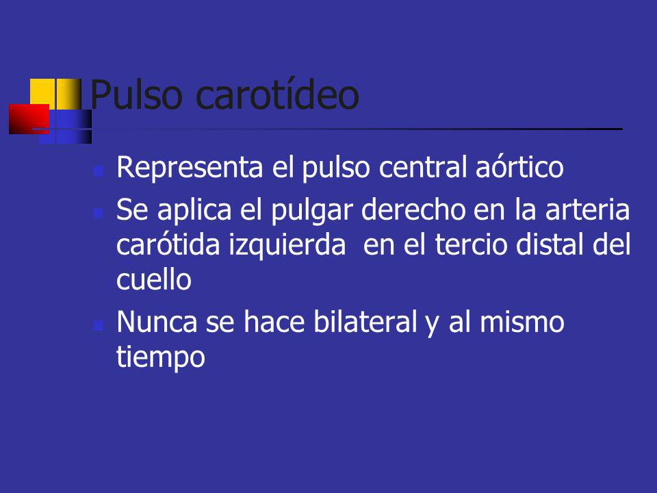 Hipocinético Pulso pequeño presente en pacientes con volúmen disminuido Se asocia con frecuencia cardíaca baja Hipovolemia, falla ventricular izquierda, estenosis mitral o aórtica
