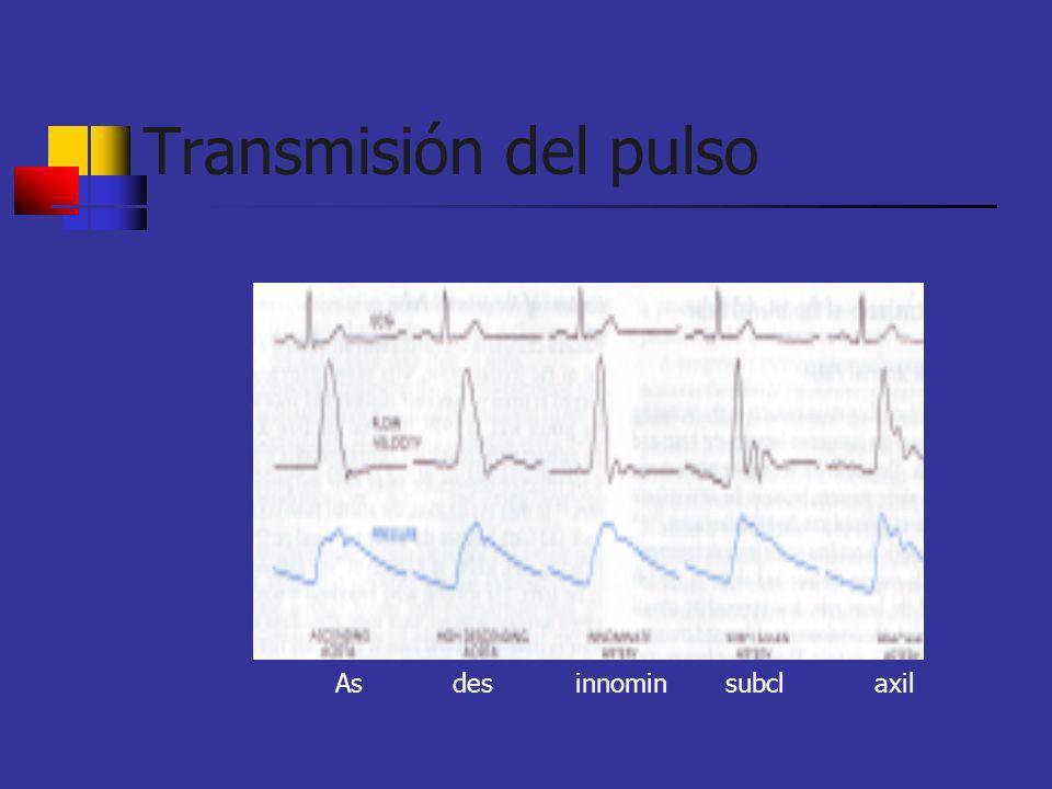 Transmisión del pulso As des innomin subcl axil