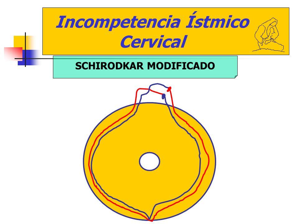 Incompetencia Ístmico Cervical SCHIRODKAR MODIFICADO