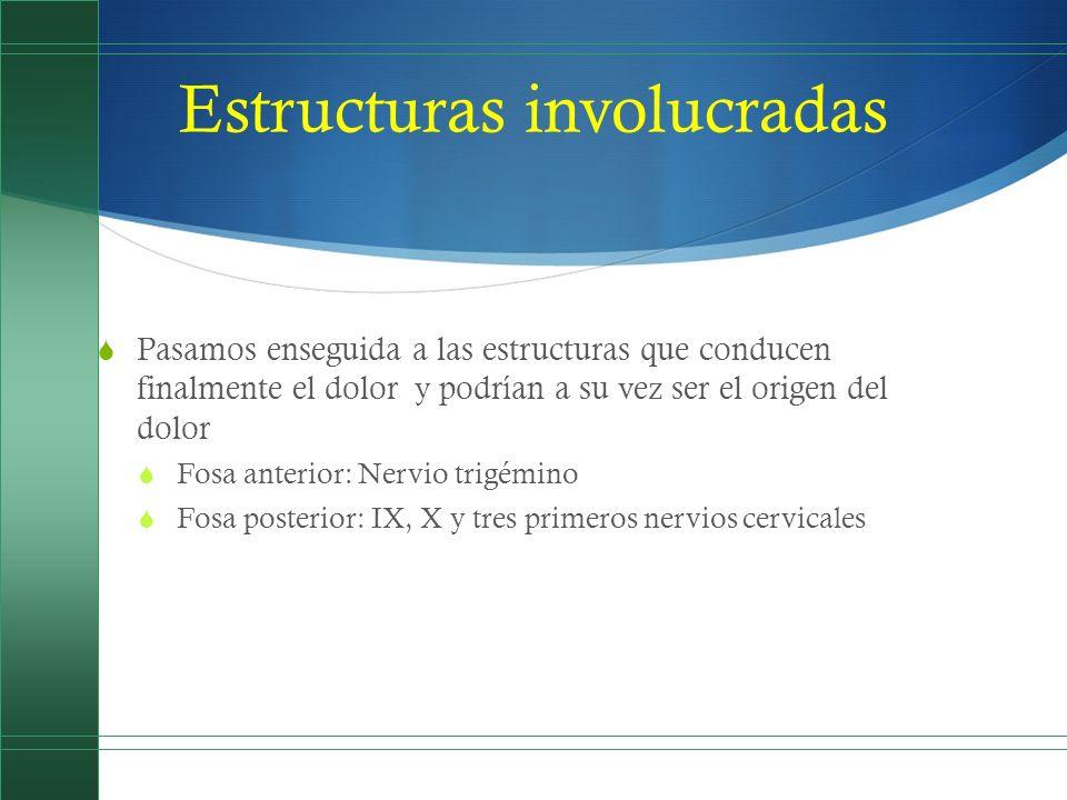 Fisiopatología de la migraña Es un fenómeno muy complejo donde participan alteraciones vasomotoras, bioquímicas y neuronales Su vía de expresión anatómica es el sistema trigémino- vascular