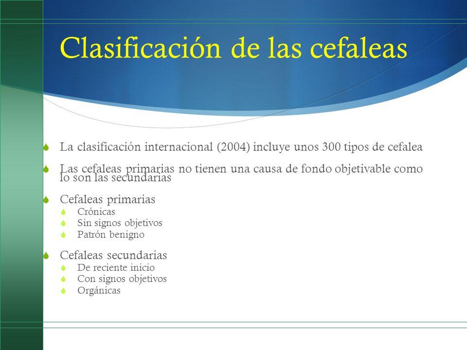 Cefaleas primarias 1.Migrañas 1. Migraña sin aura 2.