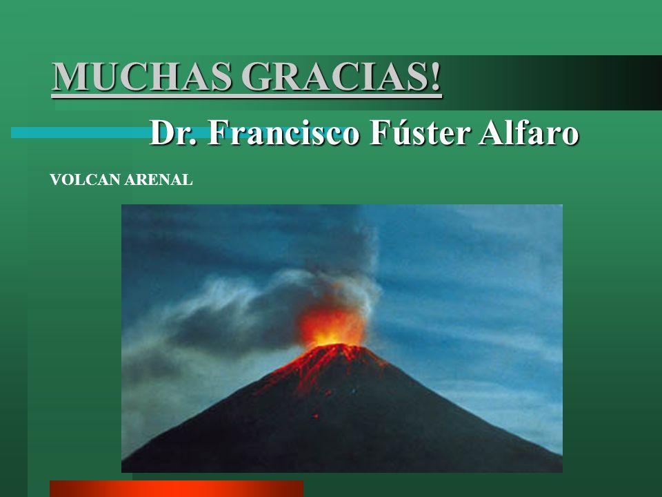 MUCHAS GRACIAS! Dr. Francisco Fúster Alfaro VOLCAN ARENAL