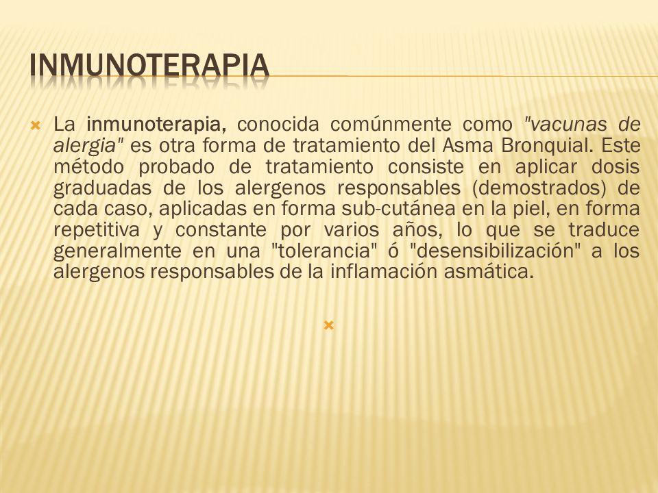 La inmunoterapia, conocida comúnmente como