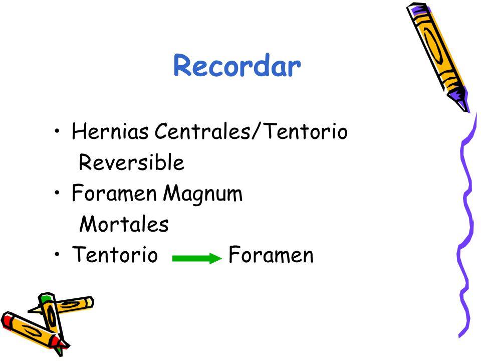 Recordar Hernias Centrales/Tentorio Reversible Foramen Magnum Mortales Tentorio Foramen