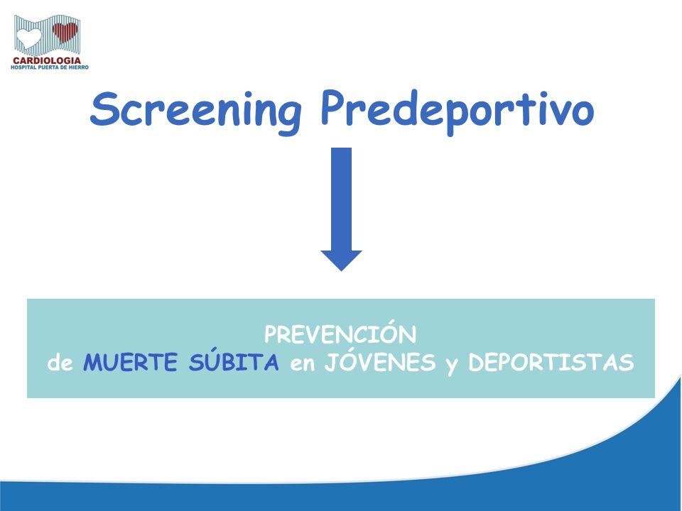 Incidencia prescreening muy alta.Críticas a screening italiano Corrado D et al.