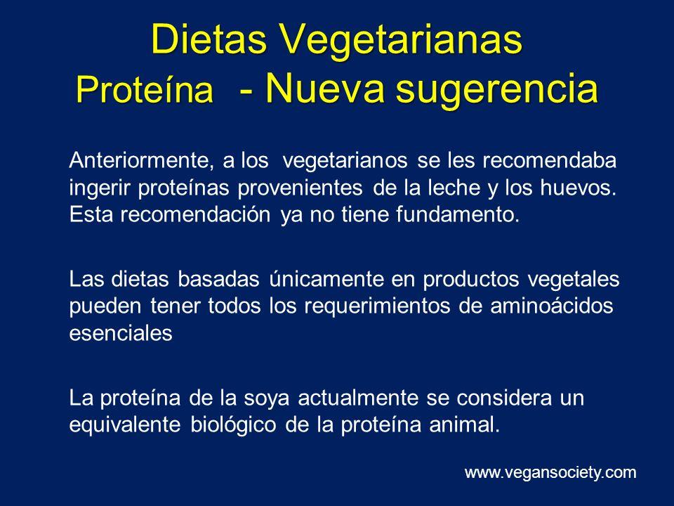 Dietas Vegetarianas Proteína - Nueva sugerencia Anteriormente, a los vegetarianos se les recomendaba ingerir proteínas provenientes de la leche y los