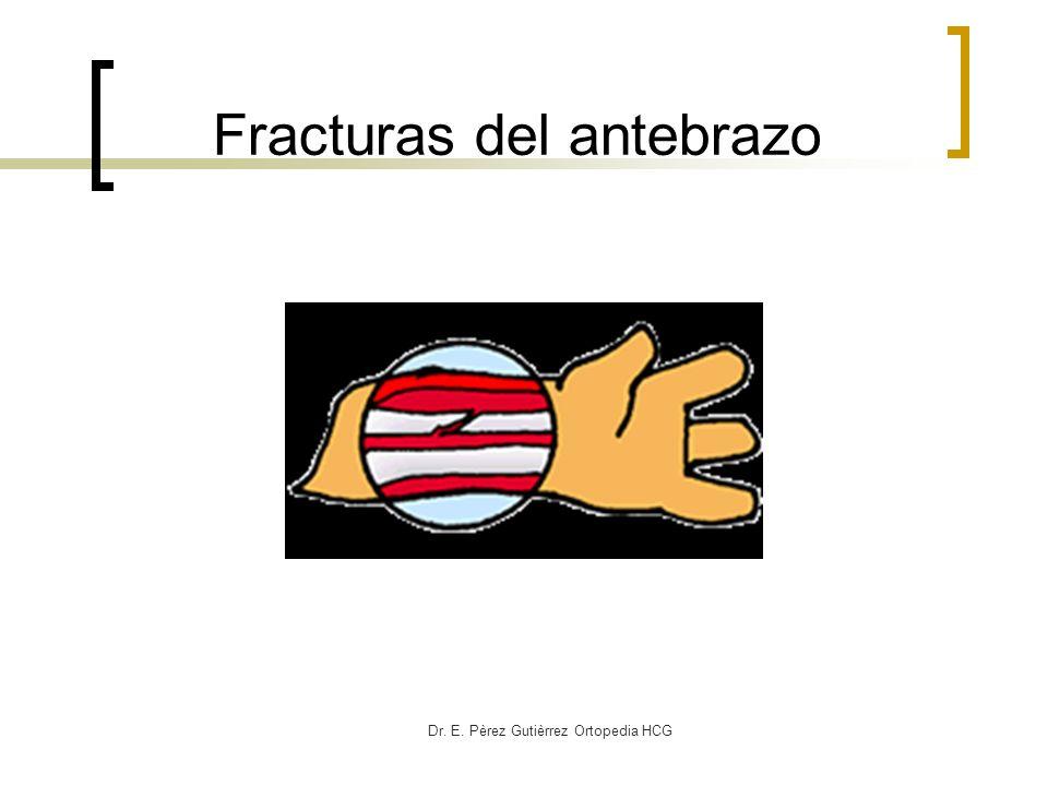 Dr. E. Pèrez Gutièrrez Ortopedia HCG Fracturas del antebrazo