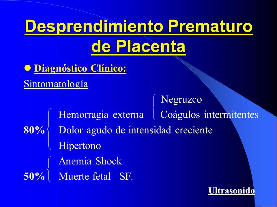 Fisiopatolog í a Desprendimiento Prematuro Placenta