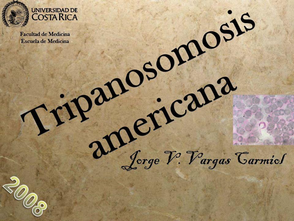 Tripanosomosis americana Jorge V. Vargas Carmiol Facultad de Medicina Escuela de Medicina