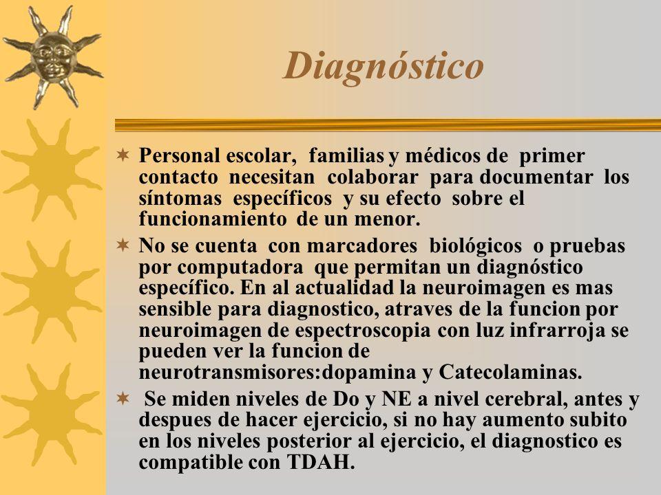Diagnóstico Personal escolar, familias y médicos de primer contacto necesitan colaborar para documentar los síntomas específicos y su efecto sobre el