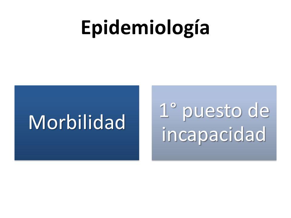 EpidemiologíaMorbilidad 1° puesto de incapacidad