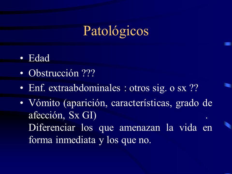 No Patológico Regurgitación: proceso fisiológico que no implica esfuerzos coordinados y normalmente asociado a eruptos. Proceso Pasivo
