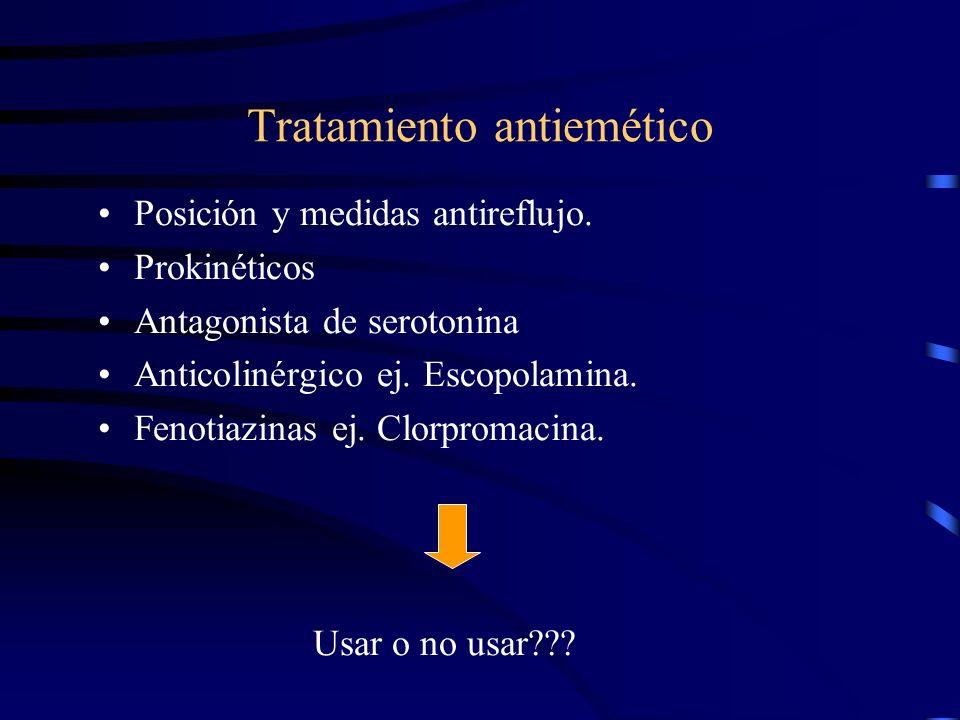 Manejo Causa + Complicaciones. Recomendaciones generales Drogas???. Gravol ? Soluciones R.O. vrs I.V.