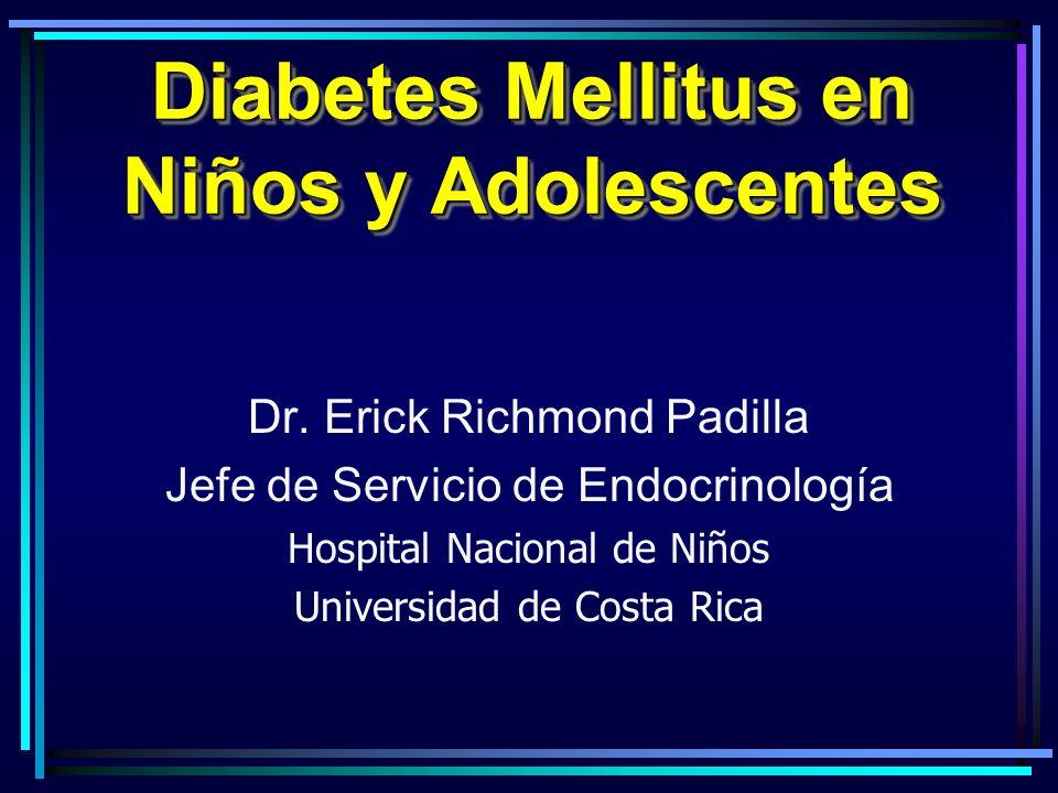 Diabetes Mellitus en Niños y Adolescentes Dr.