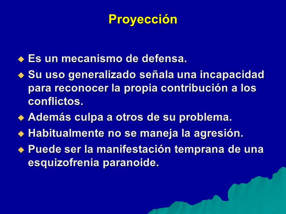 Proyección Es un mecanismo de defensa.Es un mecanismo de defensa.